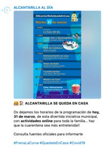 Información de eventos
